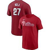 Nike Men's Philadelphia Phillies Aaron Nola #27 Red T-Shirt