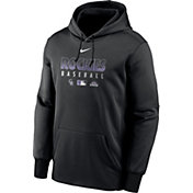 Nike Men's Colorado Rockies Black Dri-FIT Therma Pullover Hoodie