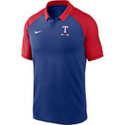 Nike Men's Texas Rangers Blue Dri-FIT Legacy Raglan Polo