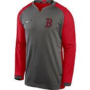 Nike Men's Boston Red Sox Grey Dri-FIT Thermal Crew T-Shirt