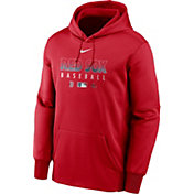 Nike Men's Boston Red Sox Red Dri-FIT Therma Pullover Hoodie