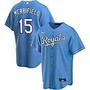 Nike Men's Replica Kansas City Royals Whit Merrifield #15 Royal Cool Base Jersey