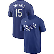 Nike Men's Kansas City Royals Whit Merrifield #15 Blue T-Shirt