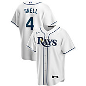 Nike Men's Replica Tampa Bay Rays Blake Snell #4 White Cool Base Jersey