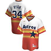 Nike Men's Houston Astros Nolan Ryan #34 Navy Cooperstown V-Neck Pullover Jersey