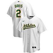 Nike Men's Replica Oakland Athletics Khris Davis #2 White Cool Base Jersey