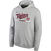 Nike Men's Minnesota Twins Grey Color Bar Club Pullover Hoodie