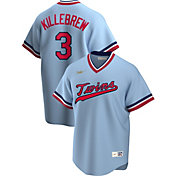 Nike Men's Minnesota Twins Harmon Killebrew #3 Blue Cooperstown V-Neck Pullover Jersey