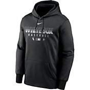Nike Men's Chicago White Sox Black Dri-FIT Therma Pullover Hoodie