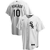Nike Men's Replica Chicago White Sox Yoan Moncada #10 White Cool Base Jersey