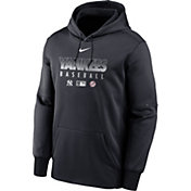Nike Men's New York Yankees Blue Dri-FIT Therma Pullover Hoodie
