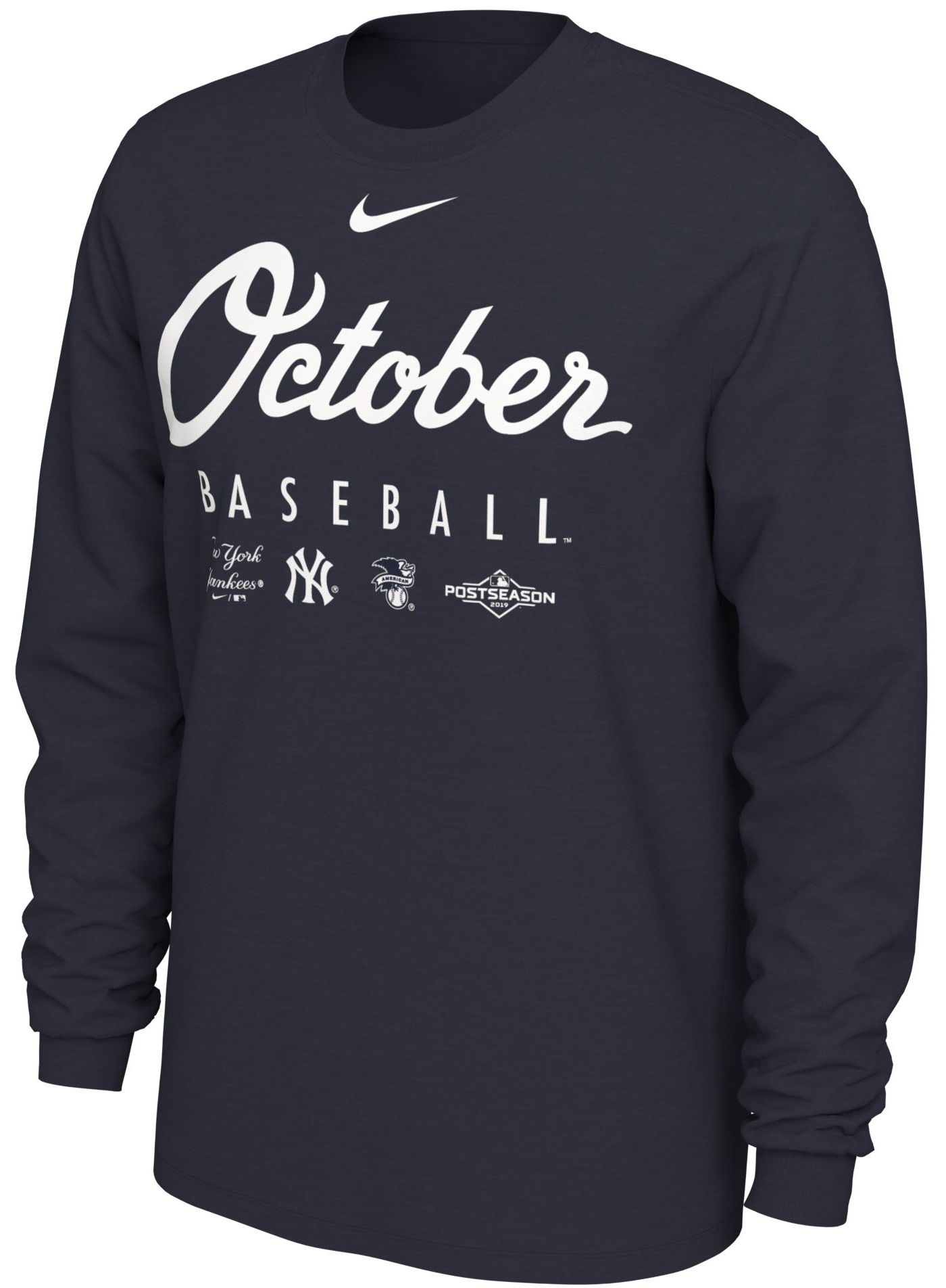 "Nike Men's New York Yankees 2019 MLB Postseason ""October Baseball"" Long Sleeve Shirt"