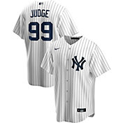 Nike Men's Replica New York Yankees Aaron Judge #99 White Cool Base Jersey