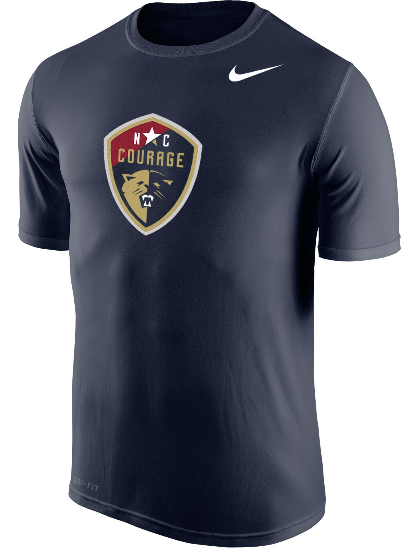Nike Men's North Carolina Courage Primary Logo Navy Tri-Blend T-Shirt