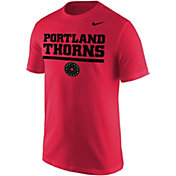 Nike Men's Portland Thorns Wordmark Red T-Shirt