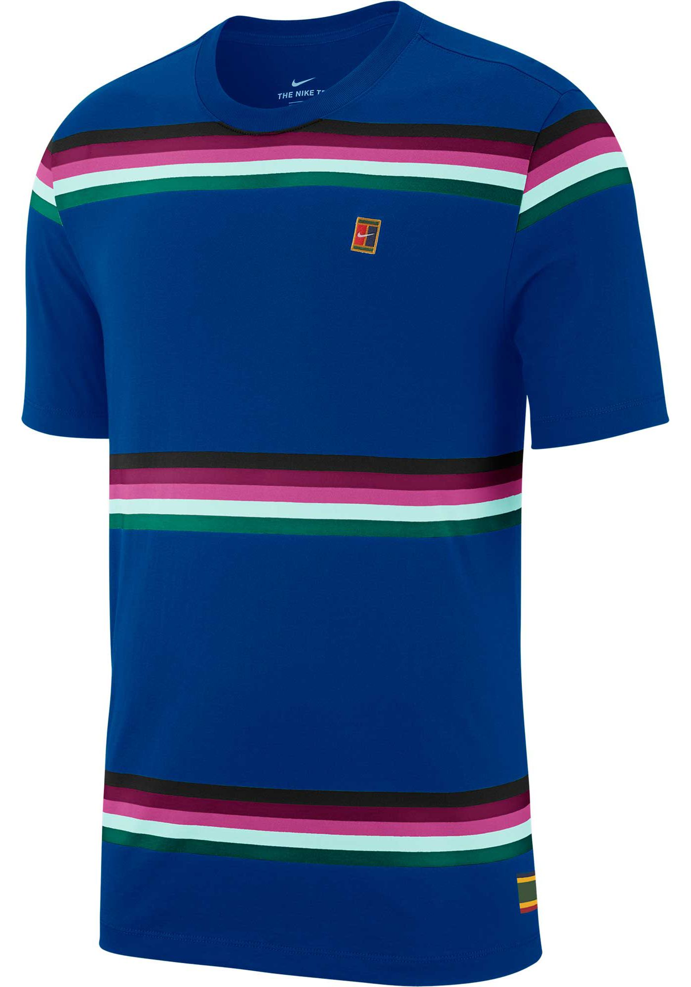 Nike Men's NikeCourt Striped Tennis Shirt