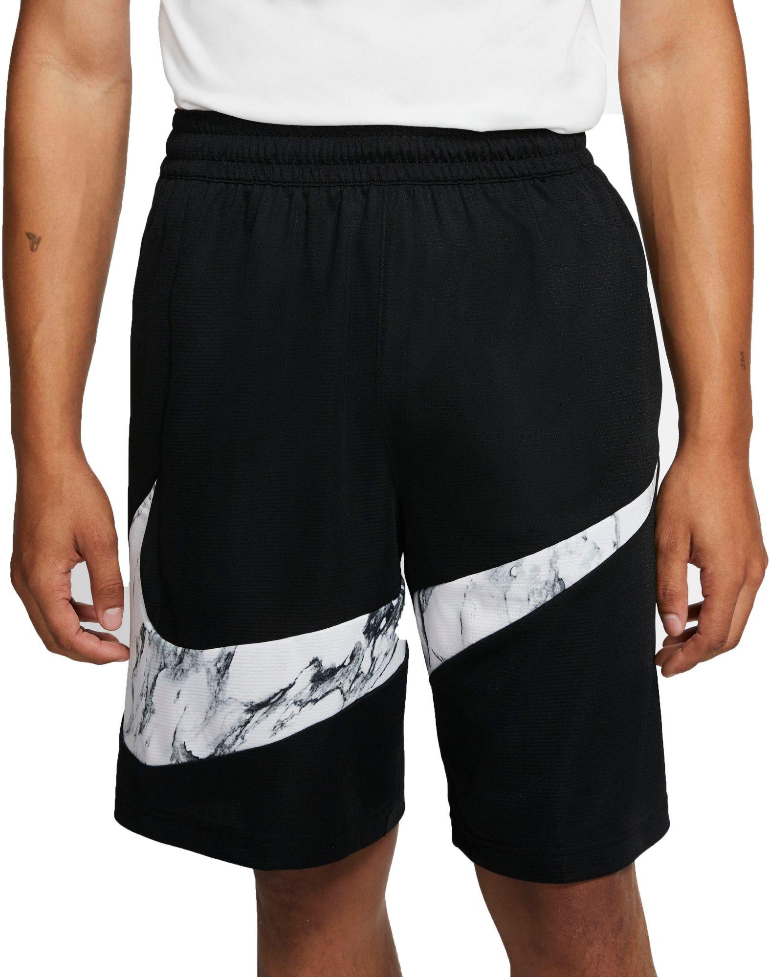 men's nike black basketball shorts