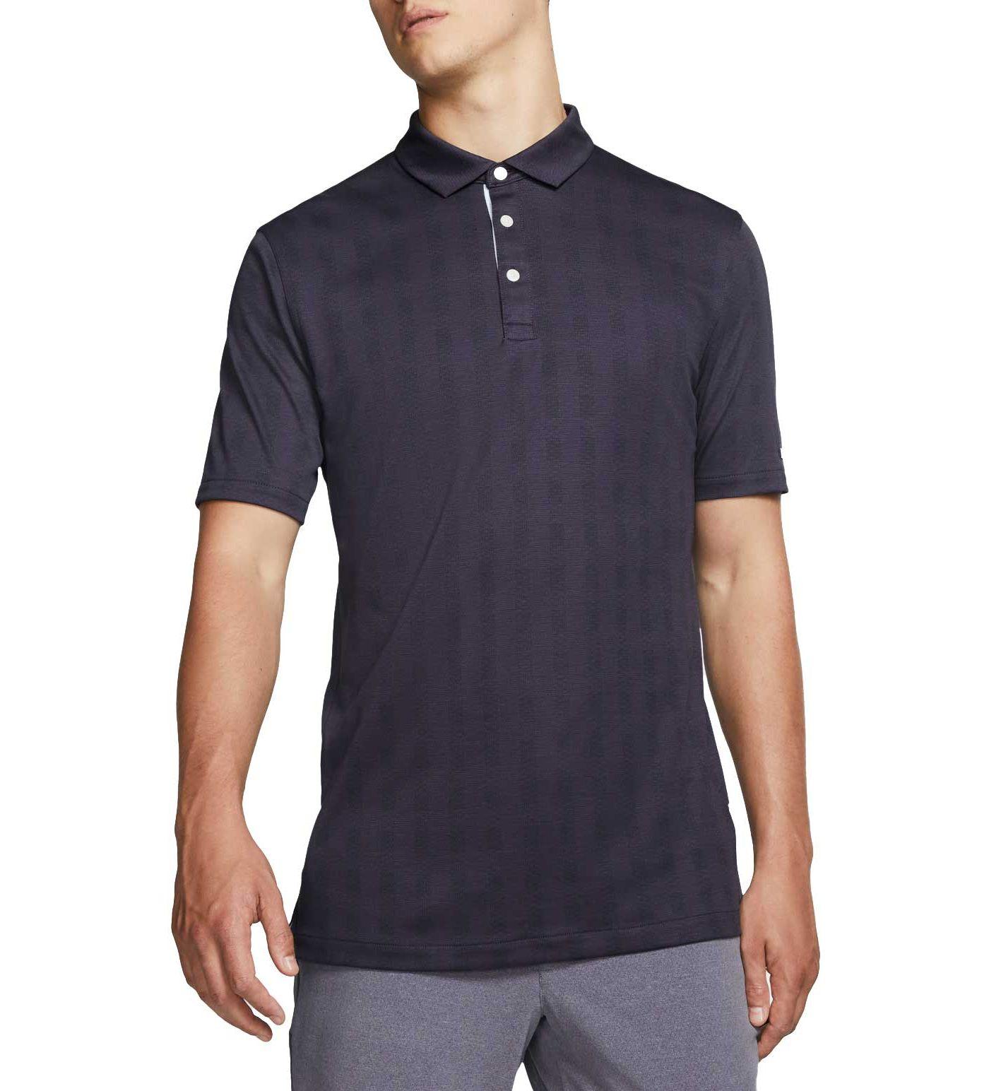 Nike Men's Plaid Player Golf Polo