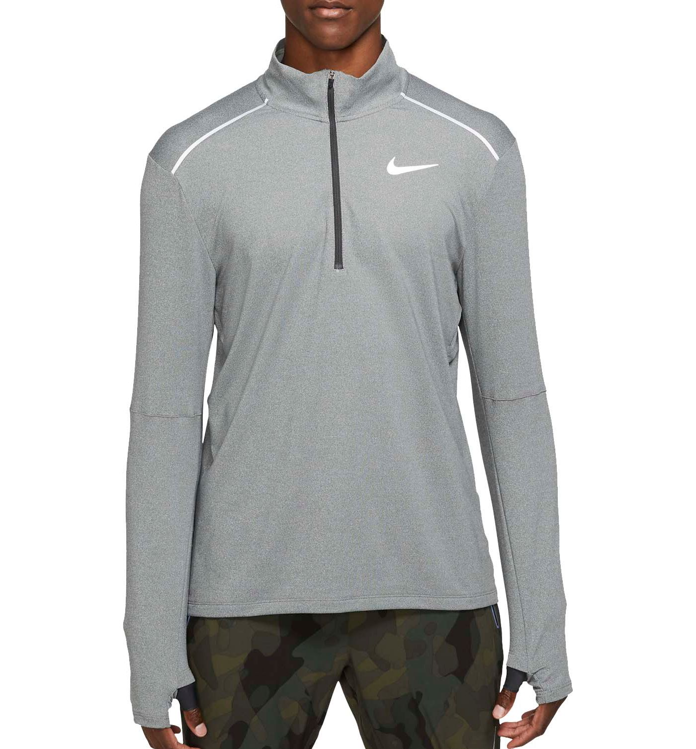 Nike Men's Element ½ Zip Mock Neck Running Long Sleeve Shirt 3.0