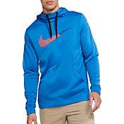 Nike Men's Therma Fleece Pullover Training Hoodie in Battle Blue