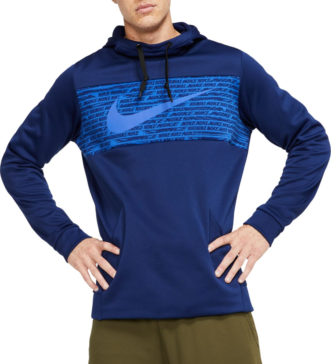 Royal Blue Nike Hoody Nike pullover hoody with front pocket