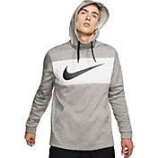 Nike Men's Therma Pullover Hoodie in Dk Grey Heather/Black