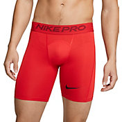 Nike Men's Pro Shorts (Regular and Big & Tall) in University Red/Black