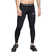 Nike Men's Pro Tights in Black/White