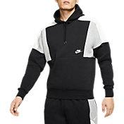 Nike Men's Sportswear Colorblocked Pullover Hoodie in Black
