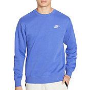 Nike Men's Sportswear Club Crewneck Pullover (Regular and Big & Tall) in Astronomy Blue
