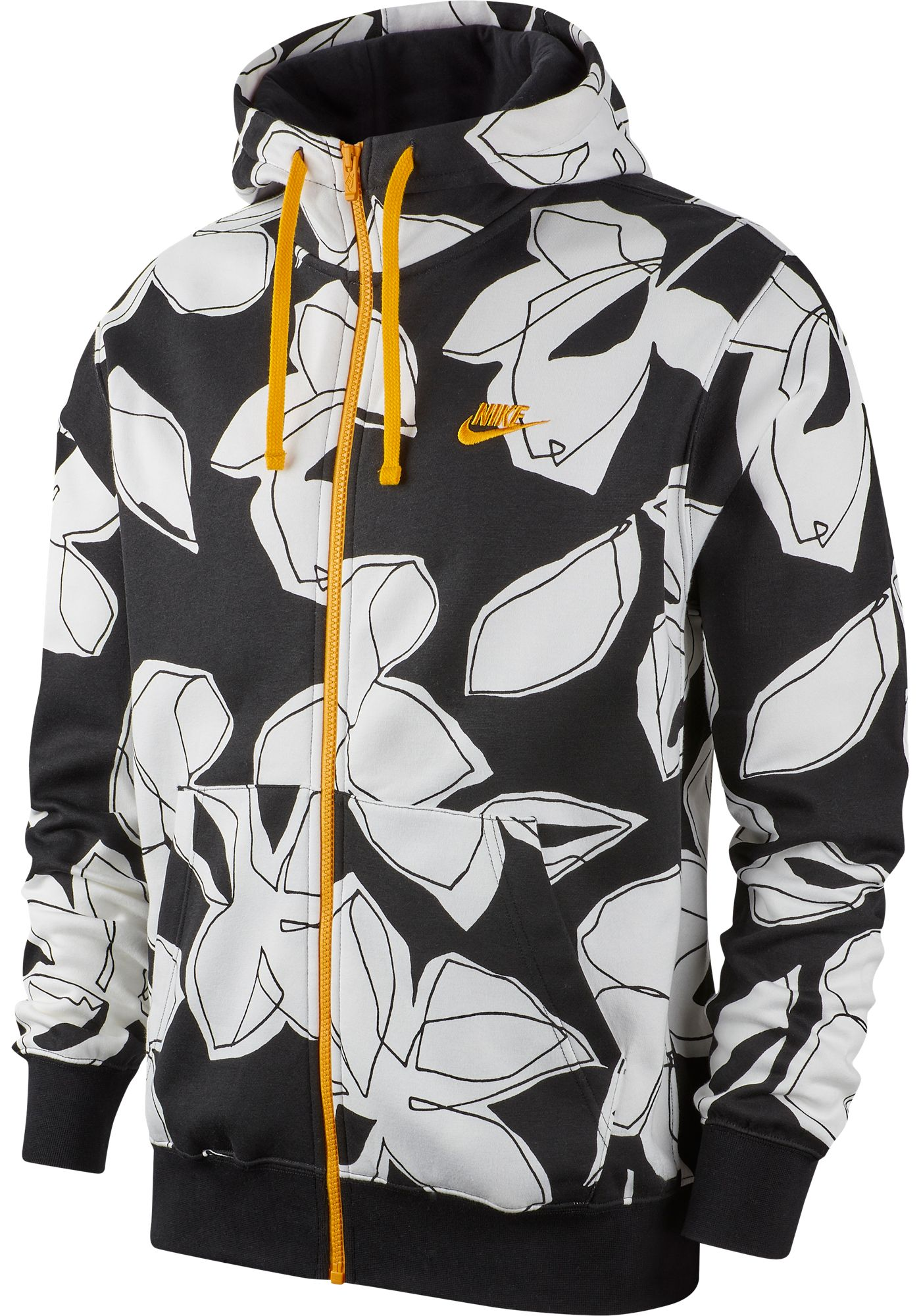 Nike Men's Sportswear Club Floral Full Zip Hoodie