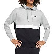 Nike Men's Sportswear Club 1/2 Zip Fleece Hoodie in Dk Grey Heather/Black