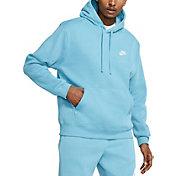 Nike Men's Sportswear Club Fleece Hoodie (Regular and Big & Tall) in Cerulean/Cerulean