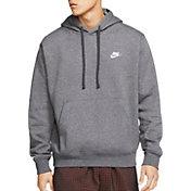 Nike Men's Sportswear Club Fleece Hoodie (Regular and Big & Tall) in Charcoal Heather/Anth