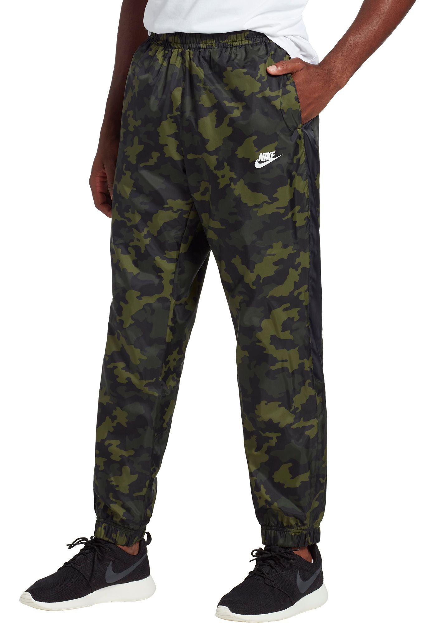 Nike Men's Sportswear Woven Camo Track Pants