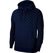 Nike Men's Sportswear Swoosh Pullover Hoodie in Blue Void