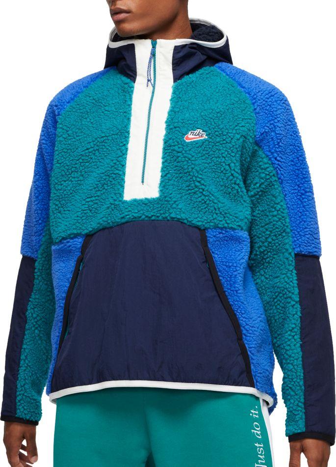 nike club fleece hoodie olive green