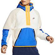 Nike Men's Sportswear ½ Zip Fleece Hoodie in Sail