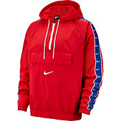 Nike Men's Sportswear Swoosh Jacket in University Red/White