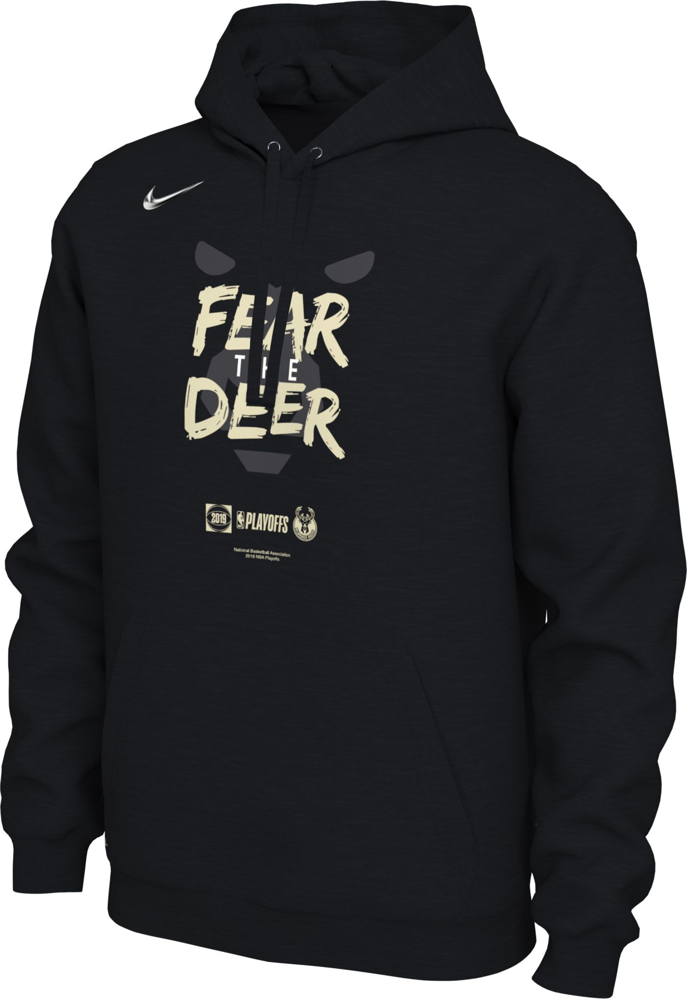 "Nike Men's Milwaukee Bucks 2019 Playoffs ""Fear The Deer"" Pullover Hoodie"