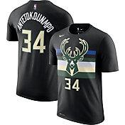 Nike Men's Milwaukee Bucks Giannis Antetokounmpo #34 Dri-FIT Black Statement T-Shirt