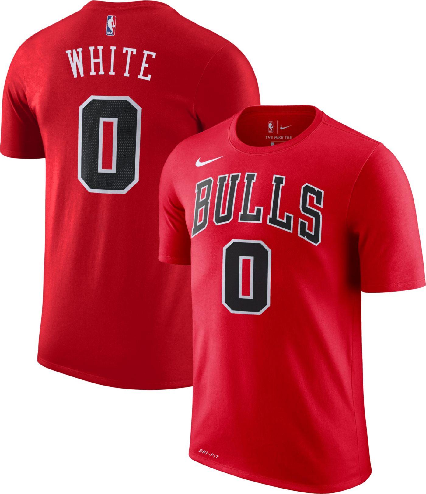 Nike Men's Chicago Bulls Coby White #0 Dri-FIT Red T-Shirt