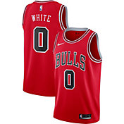 Nike Men's Chicago Bulls Coby White #0 Red Dri-FIT Swingman Jersey
