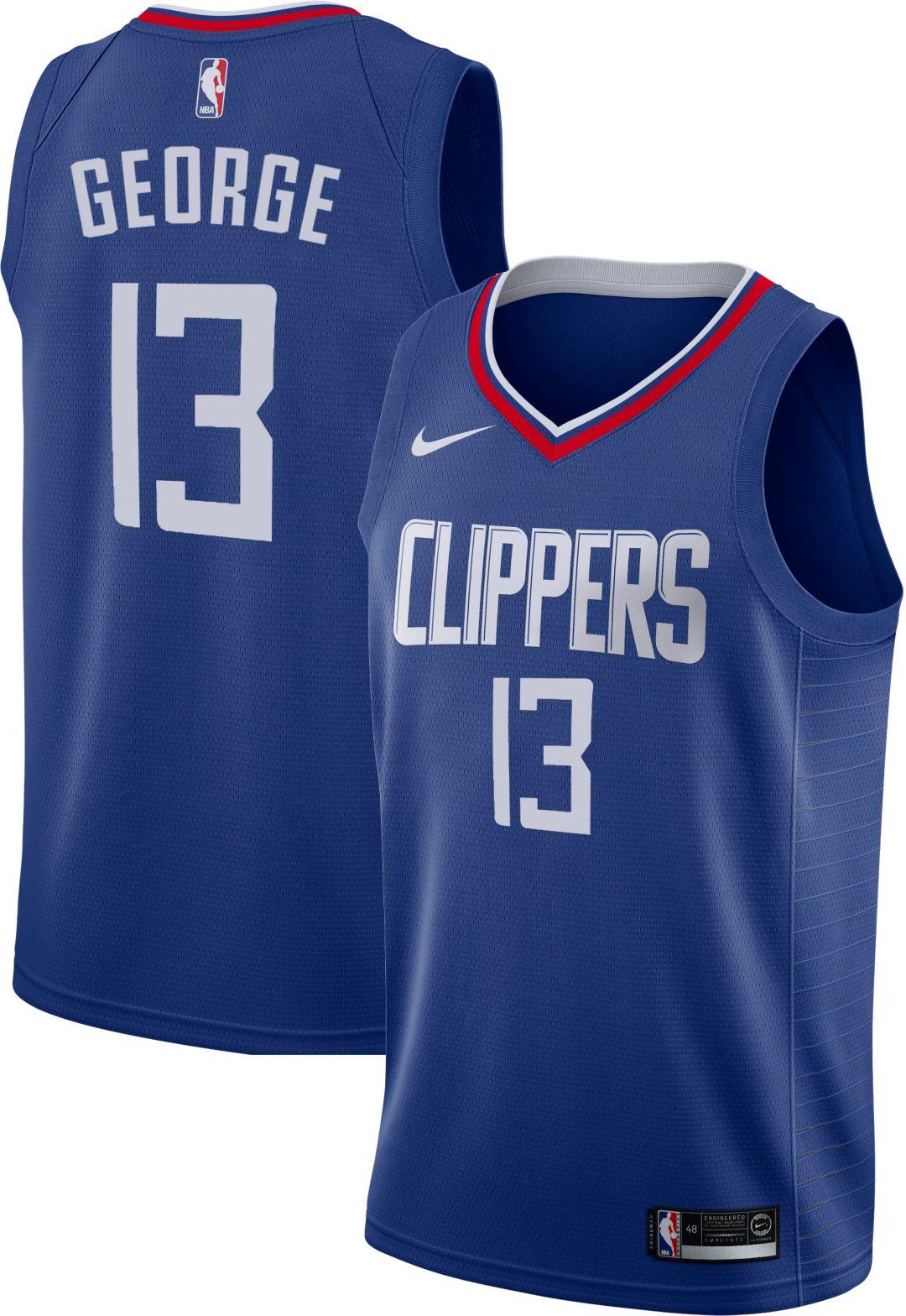 finest selection e344e 5a7de Nike Men's Los Angeles Clippers Paul George #13 Royal Dri-FIT Swingman  Jersey