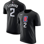 Nike Men's Los Angeles Clippers Kawhi Leonard #2 Dri-FIT Statement Black T-Shirt