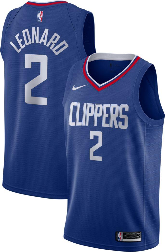 promo code c1f0d d1408 Nike Men's Los Angeles Clippers Kawhi Leonard #2 Royal Dri-FIT Swingman  Jersey