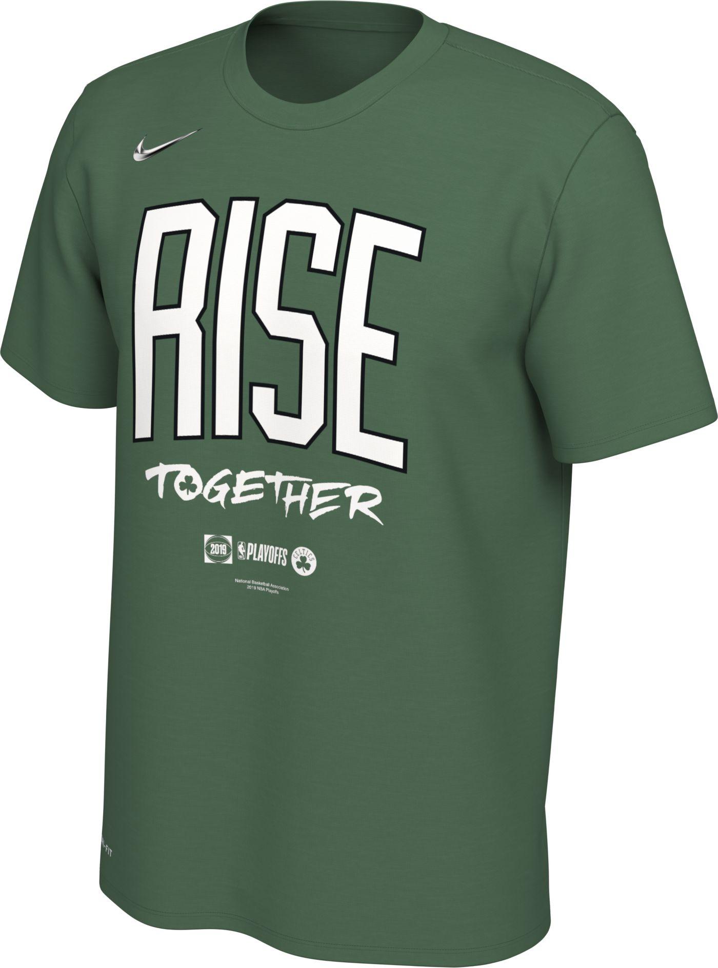 "Nike Men's Boston Celtics 2019 Playoffs ""Rise Together"" Dri-FIT T-Shirt"