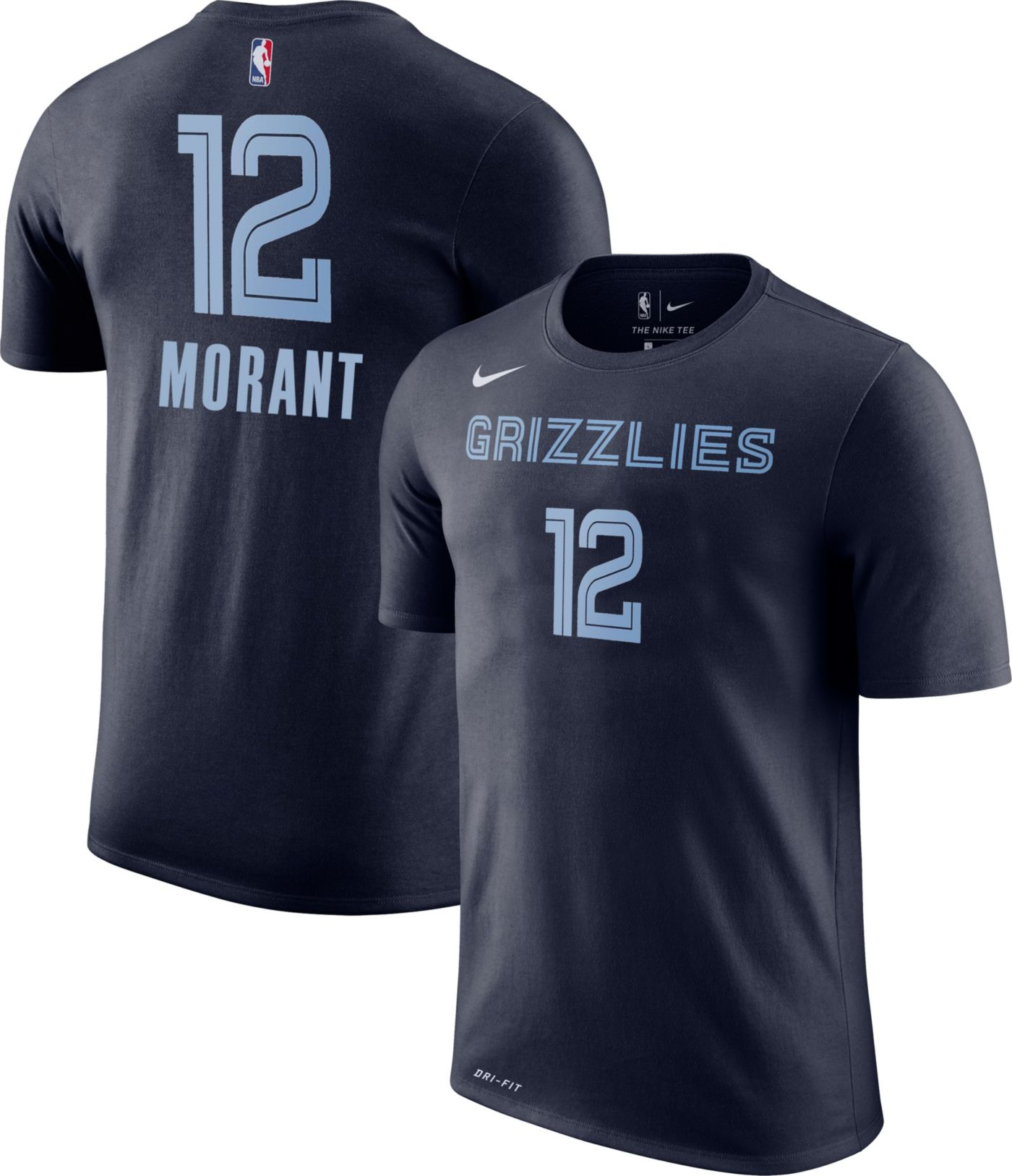 Nike Men's Memphis Grizzlies Ja Morant #12 Dri-FIT Navy T-Shirt