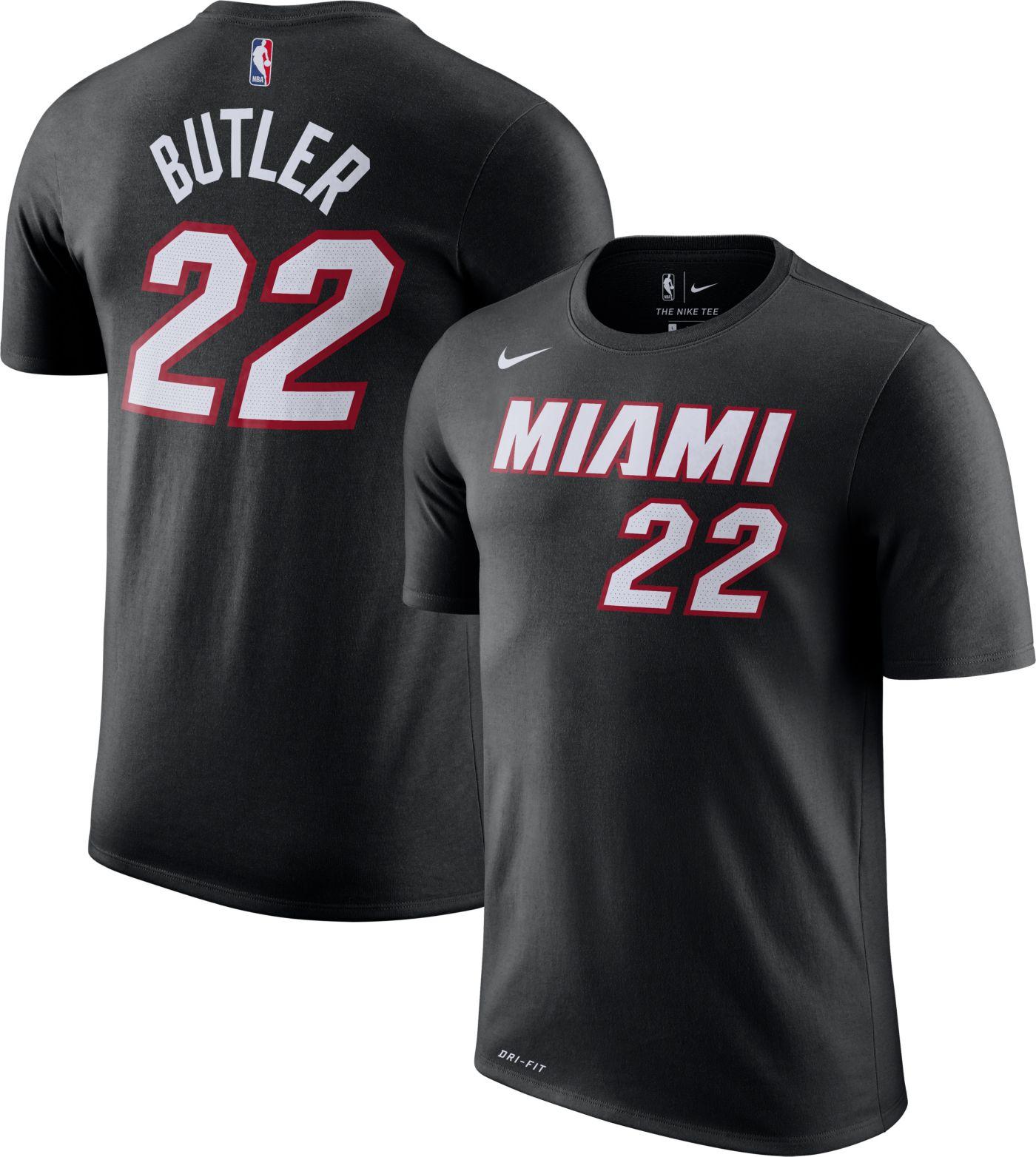 Nike Men's Miami Heat Jimmy Butler #22 Dri-FIT Black T-Shirt