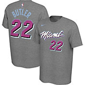 Nike Men's Miami Heat Jimmy Butler #22 Dri-FIT Grey City Edition T-Shirt